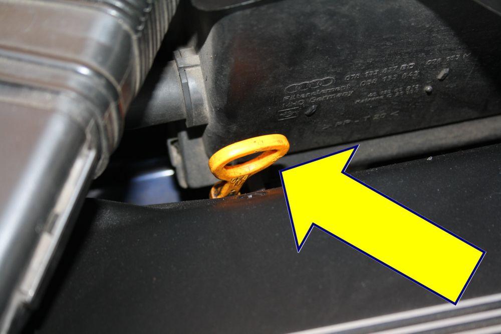 Ölstand kontrollieren - Anleitung Schritt 3